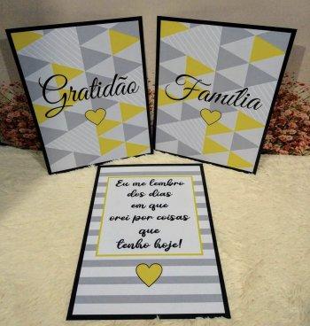 Gratidão família amarelo