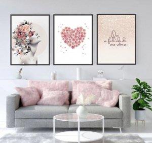 Kit quadro coração