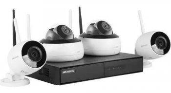 Kit De Monitoramento Hikhome Nvr 4bd Wifi - Nk4w2-1t (1 Tb)