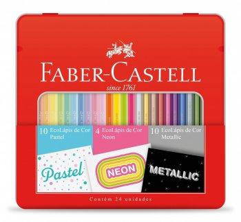 Kit Cores Pastel, Neon e Metalic Faber-Castell