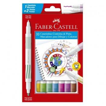 Canetinha Contorna e Pinta Faber-Castell