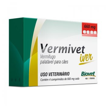 Vermivet Iver 660 Mg - 4 Cp