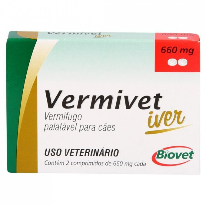 Vermivet Iver 660 Mg - 2 Cp