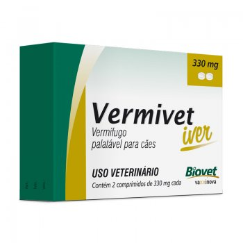 Vermivet Iver 330 Mg - 2 Cp