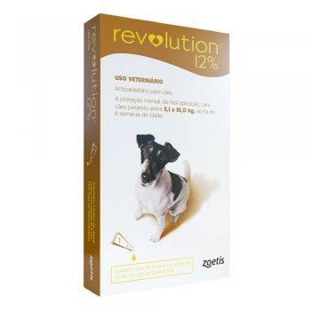 Revolution 12% 60mg Cães 5,1 a 10kg - 1 Pipeta