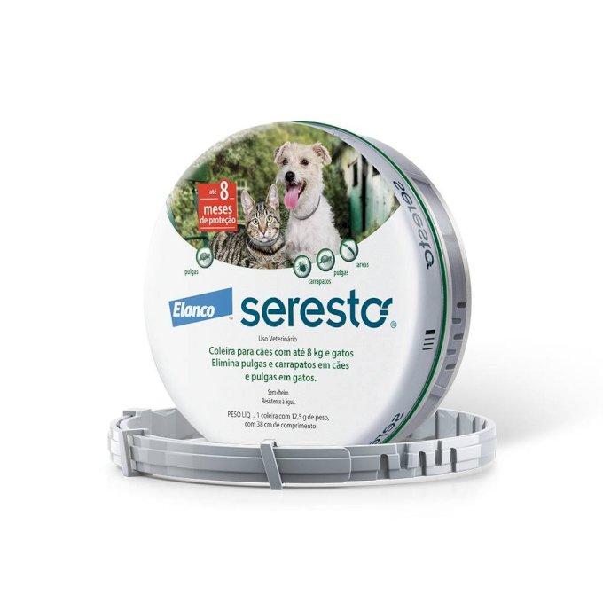 Coleira Seresto Para Cães E Gatos Até 8 Kg - Pequena