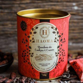 Bombom de Chocolate com recheio de Cookies & Cream - 10 unid