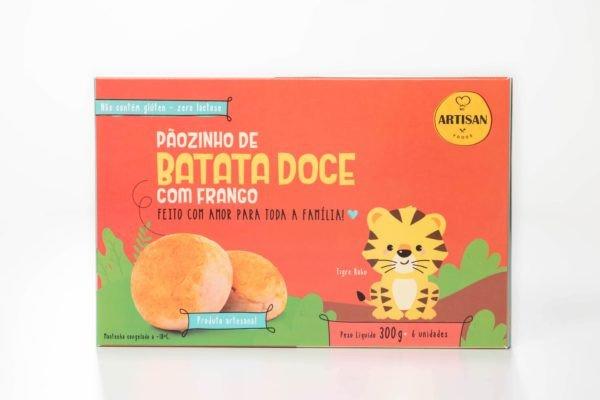 Pãozinho de Batata Doce com Frango