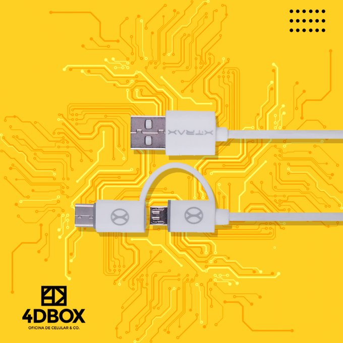 CABO 2 EM 1 (MICRO USB E C ) XTRAX