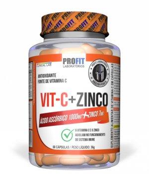 Vita C + zinco 60 caps Profit