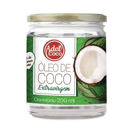 Oleo de coco extra vigem Adel Coco 200 ml