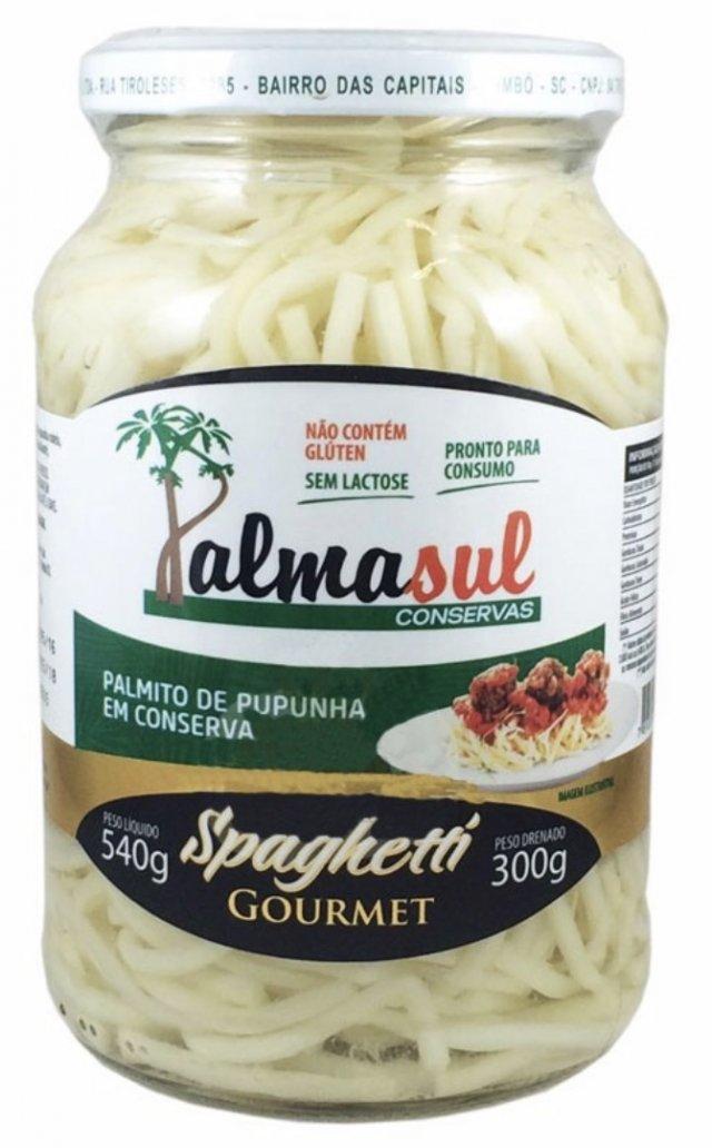 Spaghetti De Palmito Pupunha Em Conserva 540g  Palmasul