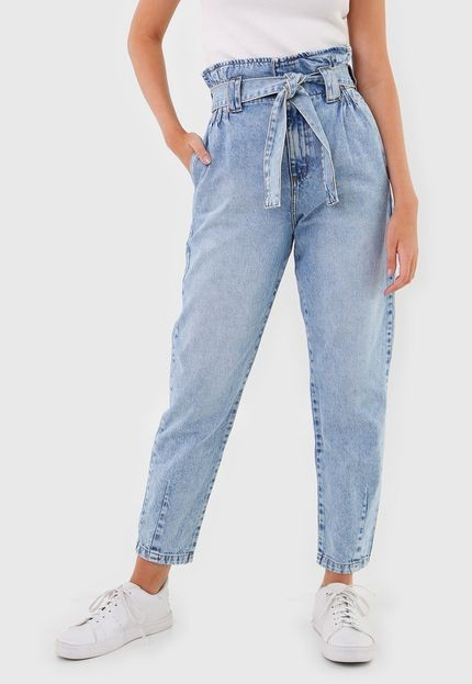 Calça Jeans Colcci Slim Clochard Estonada Azul