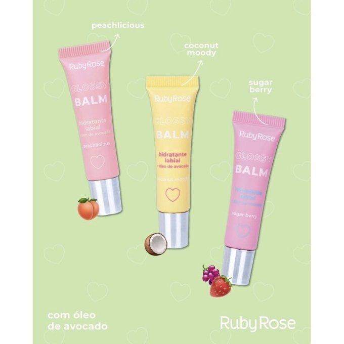 Glossy Balm Hidratante Labial Ruby Rose