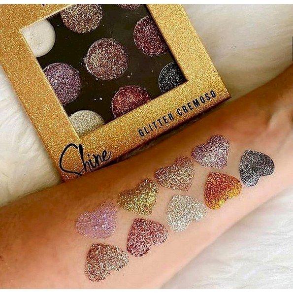 Paleta de Glitter Cremoso Shine