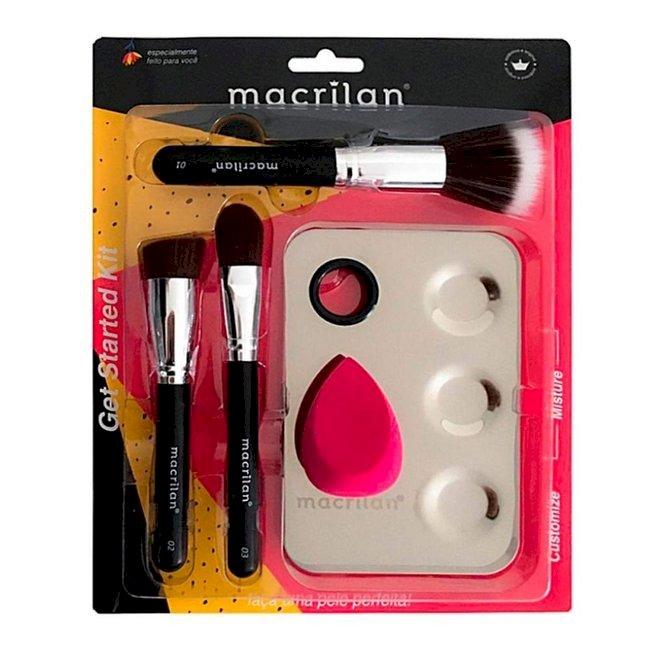 Kit Pincel Get Started - Macrilan KP10-1