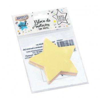Bloco Adesivo Estrela 100fls - BRW