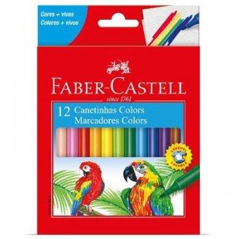 Caneta Hidrocor 12 Cores - Faber-Castell