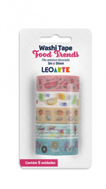 Washi Tape Food Trends C/5 - Leoarte