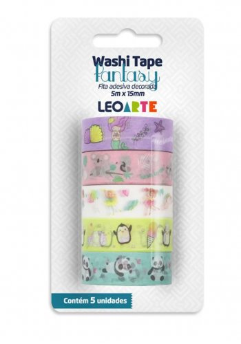 Washi Tape Fantasy C/5 - Leoarte