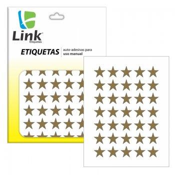 Etiqueta Estrela Dourada Metalizada C/210 - Link