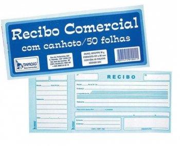 Recibo Comercial com Canhoto C/ 50Fls - Tamoio