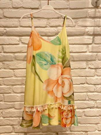 Vestido curto floral clarinho peplum Artecor