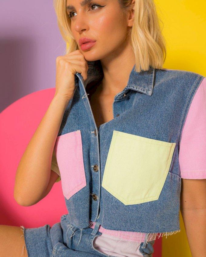 Blusa color block Alcance