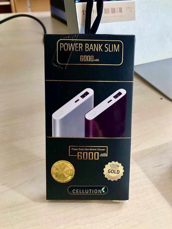 Power Bank Slim 6000 mAh CELLUTION