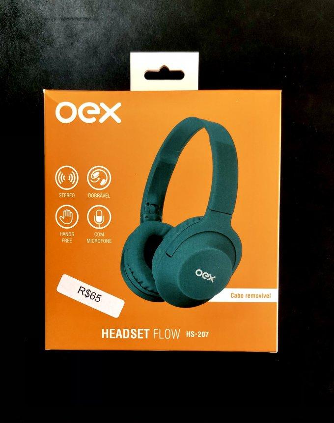 Headset Flow HS•207 Verde Oex