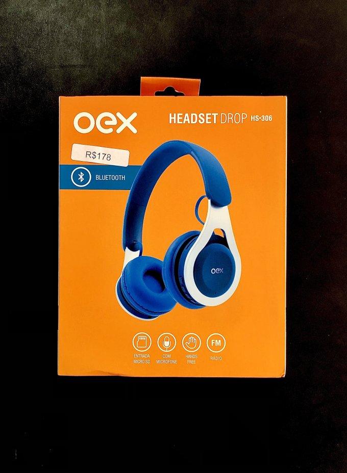 Headset Drop HS•306 Azul Oex
