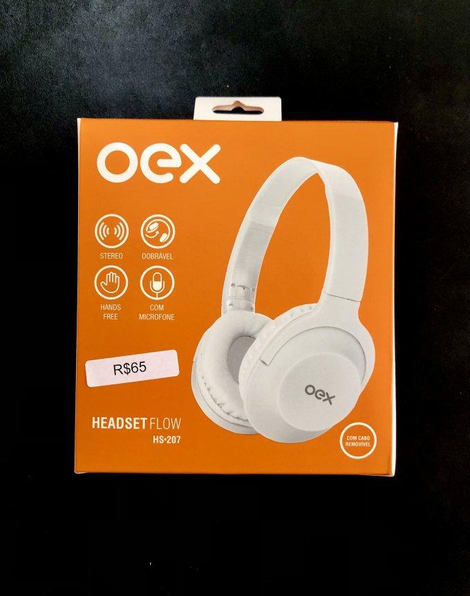 Headset Flow HS•207 Branco Oex